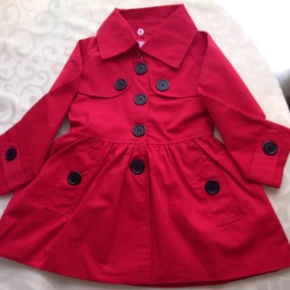 Arshiner Girls Red Coat