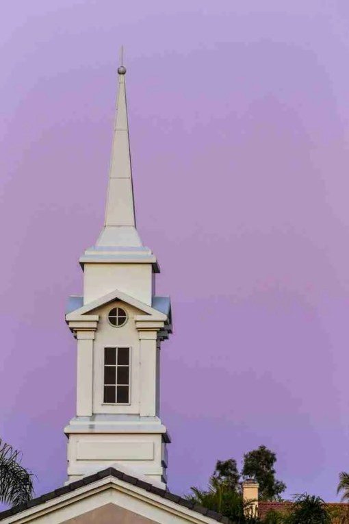 Print of a Church Steeple in Ladera Ranch California Photo