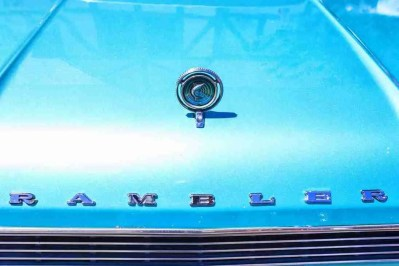 Print of a Blue AMC Rambler Automobile Photo
