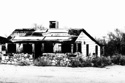 Print of an Abandoned Cafe along Highway 395 Photo