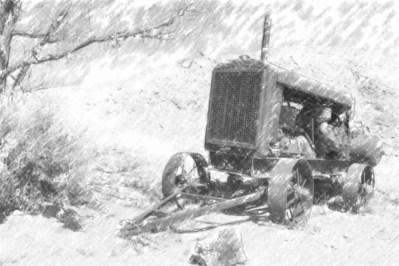 Black & White Print of an Old Gardner-Denver Generator