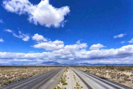 Print of Highway 15 En-route to Las Vegas