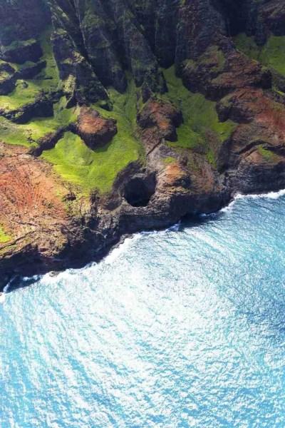 Print of a Hidden Cove along the Na Pali Coast Kauai