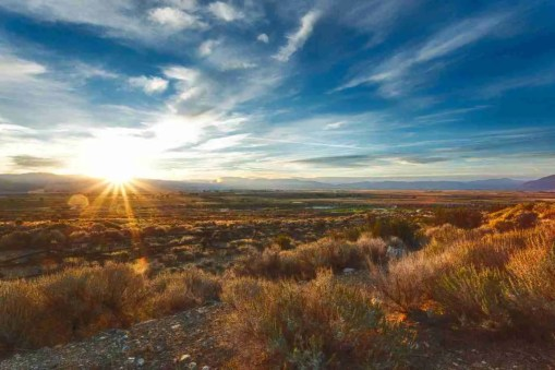 Print of a Sunrise in Carson Valley Nevada