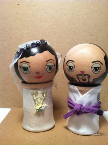 Mitch and Navine cake topper by Dolls of Cuteness