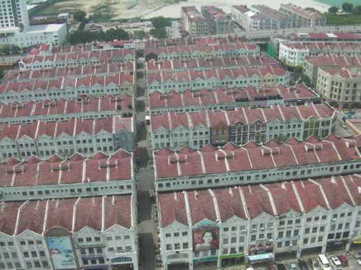 上から見た綺麗な街並みに行ってみた。