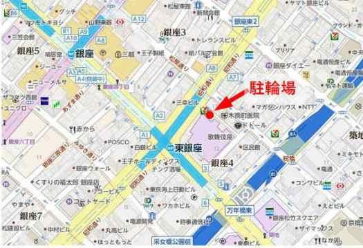 歌舞伎座タワーの真裏