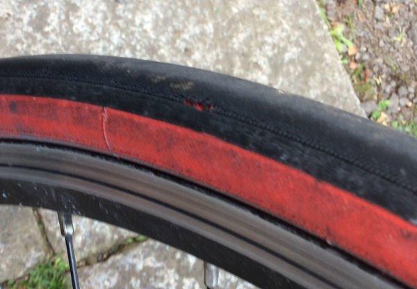 かなり消耗してきた旧タイヤ
