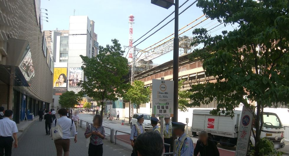 新橋駅の一時利用駐輪場を利用してきました