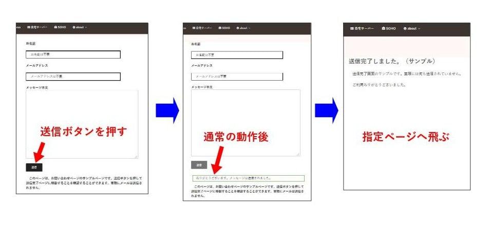 Contact Form 7で送信完了ページを用意する(DOMイベント利用)