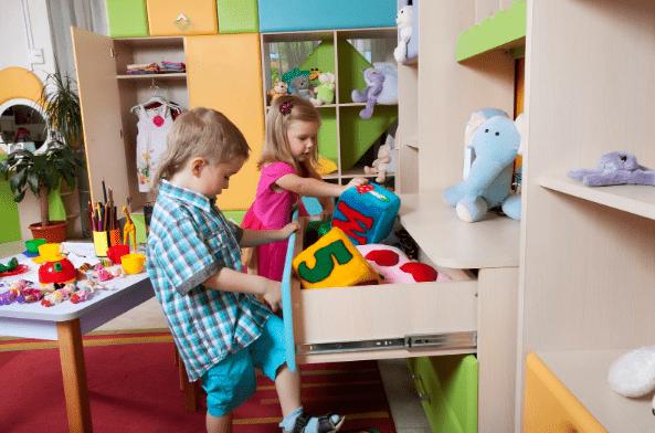 уборка детсткой комнаты