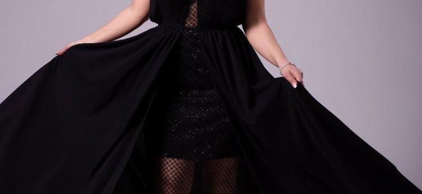 модное черное платье