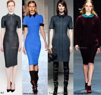 модные платья осень 2021