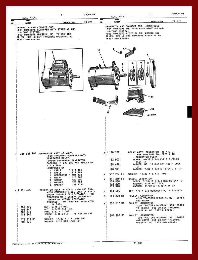 1956 farmall cub tractor wiring diagram farmall 340 wiring