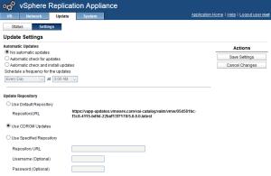Upgrade vSphere Replication 5.8
