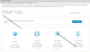 upgrade NSX to version 6.4