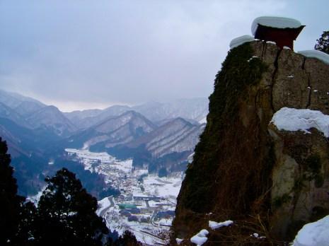 Vue depuis le Yama-dera ou temple de la montagne - préfecture de Yamagata - Région de Tōhoku - Japon