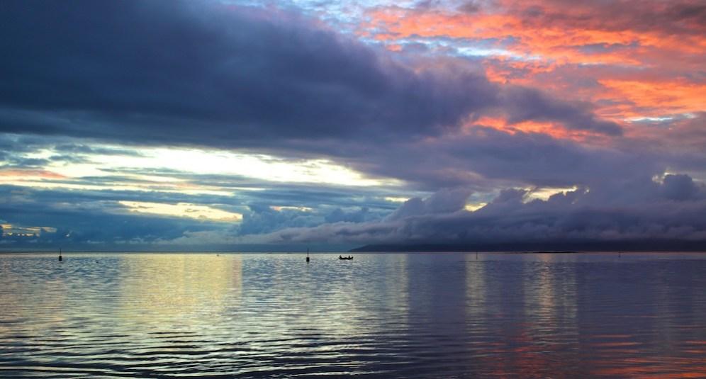 Pacific sunset, Tahiti