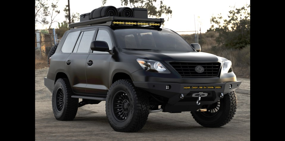 Lexus LX570, overland, landcruiser, 200 series, adventuremobile, rendering