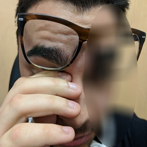 rubbing with spectacles