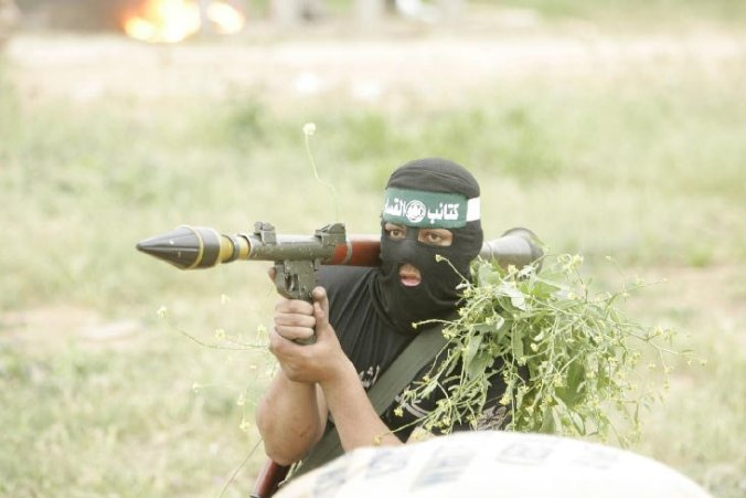 Hamas Fighter with Yasin RPG