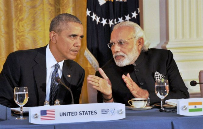 Washington : Prime Minister Narendra Modi at the dinner hosted by the President of United States of America (USA), Barack Obama, at the White House, in Washington on Thursday. PTI Photo (PTI4_1_2016_000012B)