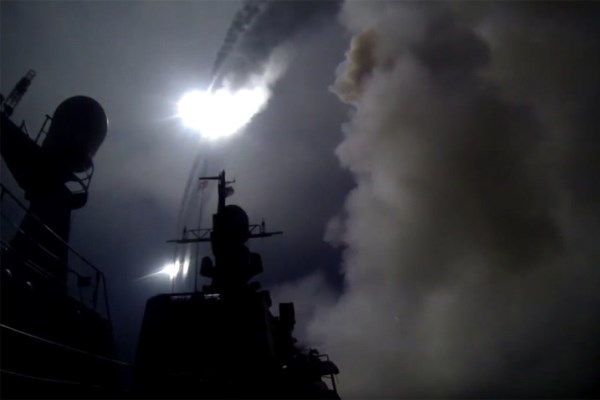 Dagestan launching its Kalibr-NK cruise missiles