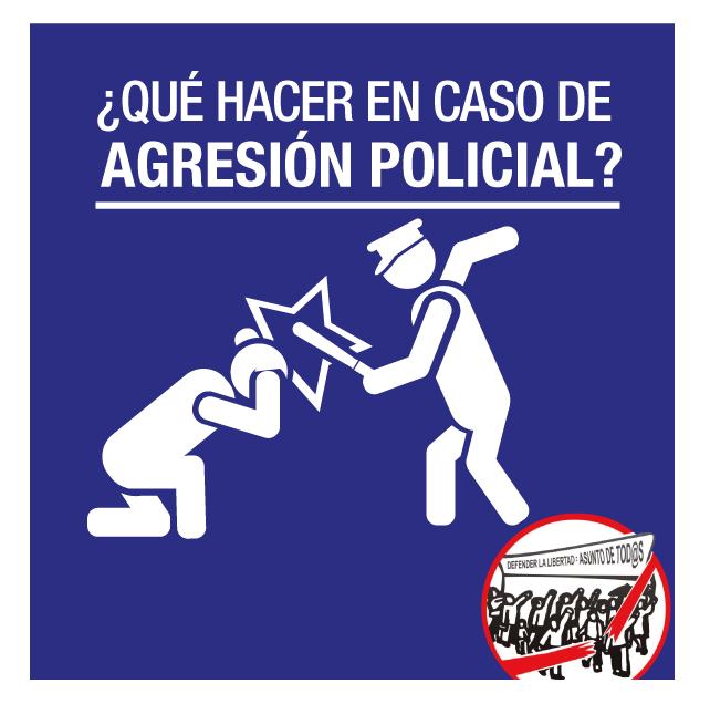 ¿Qué hacer en caso de agresión policial?