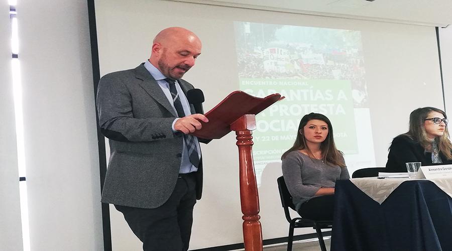 Intervención del Representante de la Oficina de ONU Derechos Humanos en Colombia: Alberto Brunori, en el Encuentro Nacional de Protesta Social
