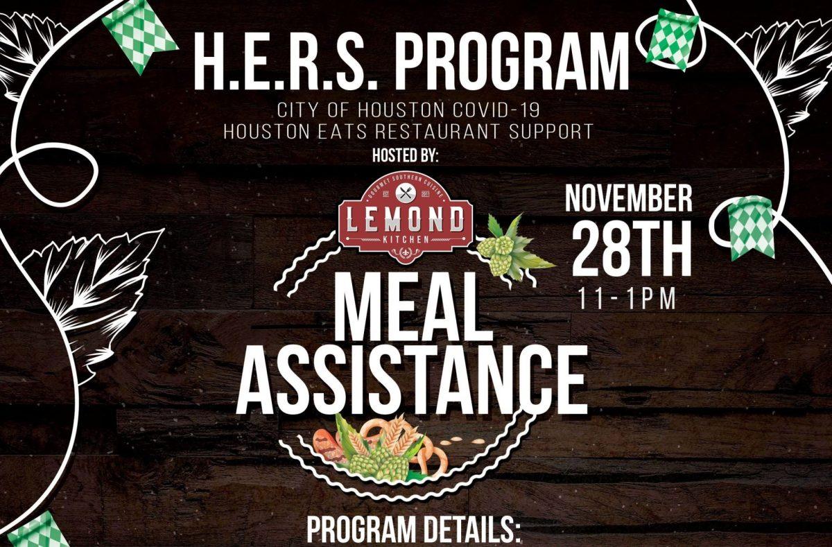 Lemond Kitchen hosts H.E.R.S. Program meal assistance this Saturday