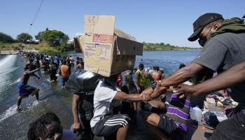 Haitian migrants on Texas Border