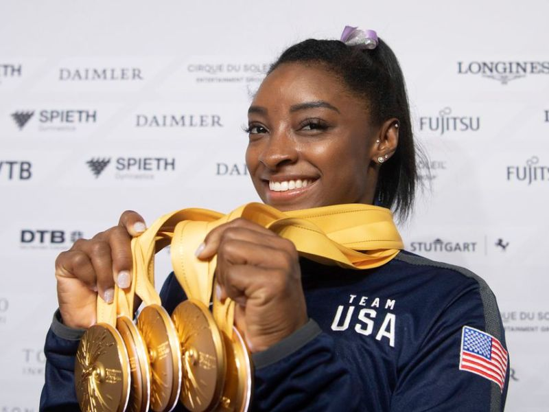 Simone Biles to haters: 'I Can't Hear You Over My 7 Olympic Medals'