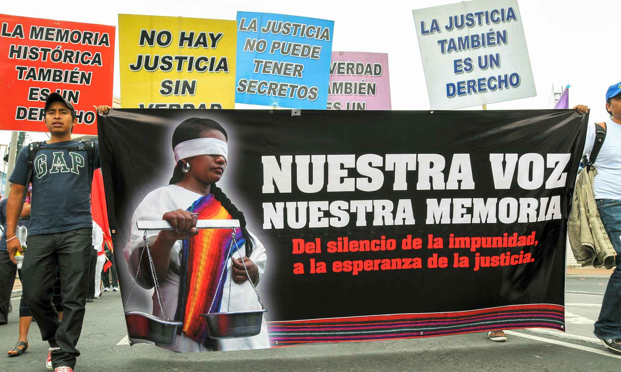 A march for justice in Guatemala