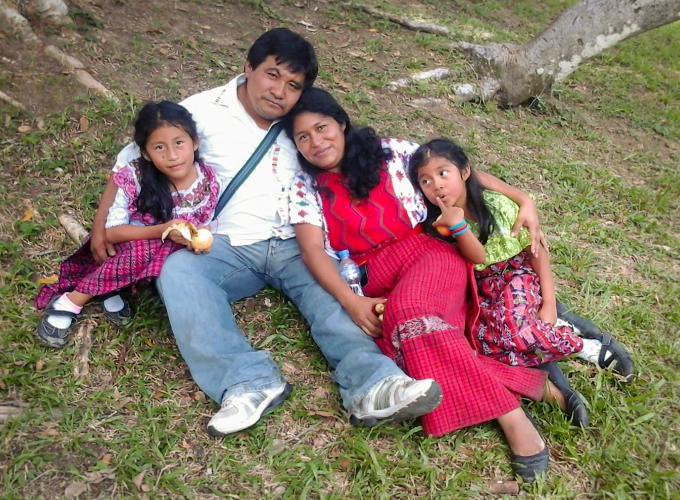 Bernardo Caal and his family