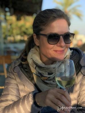 Camilla tasting Alta Allela's PB