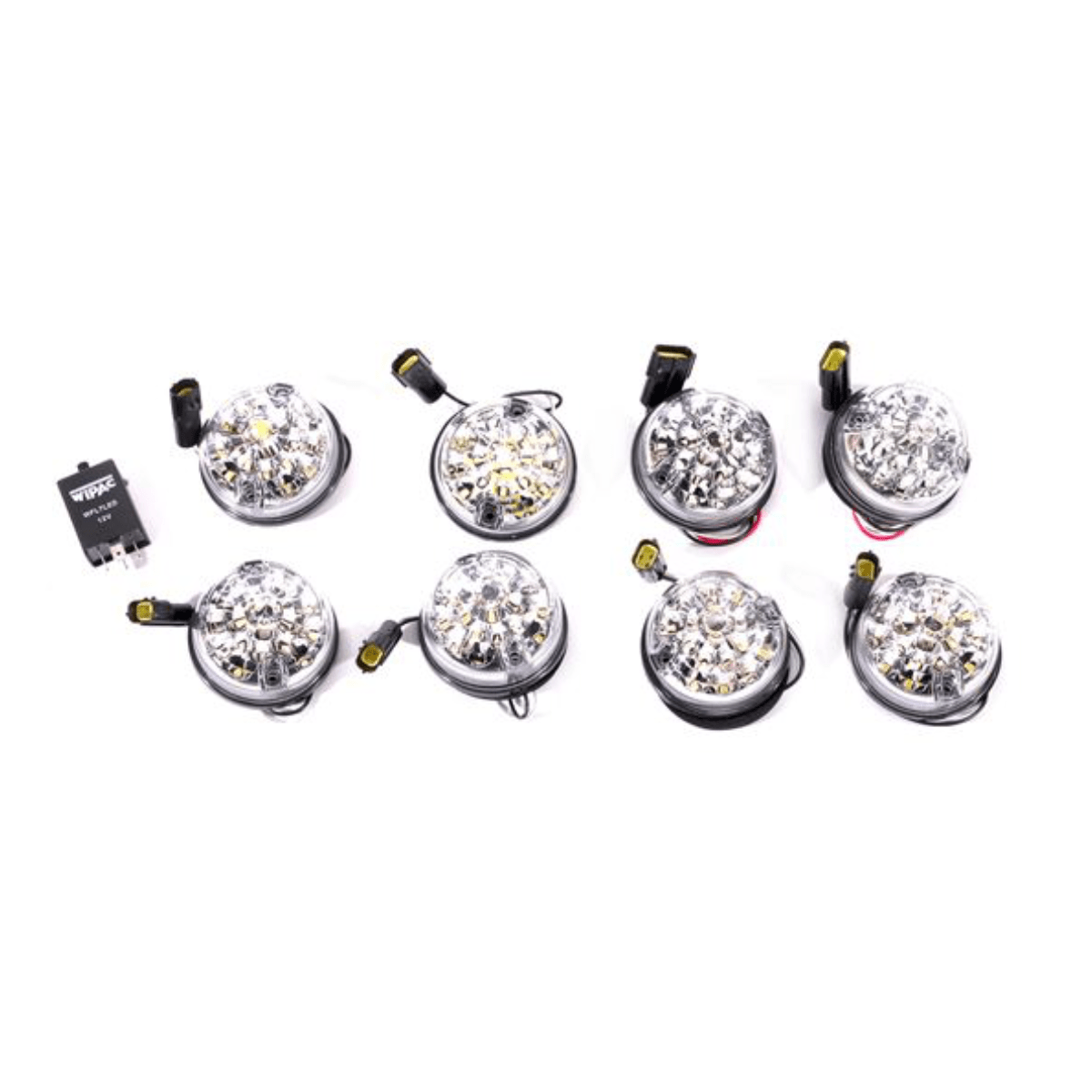 Wipac Clear Led Kit 73mm