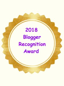 2018 Blogger Recognition Award Medallion