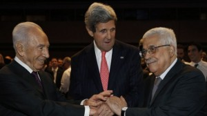 Peres, Kerry, Abbas meeting in Jordan to divide Israel