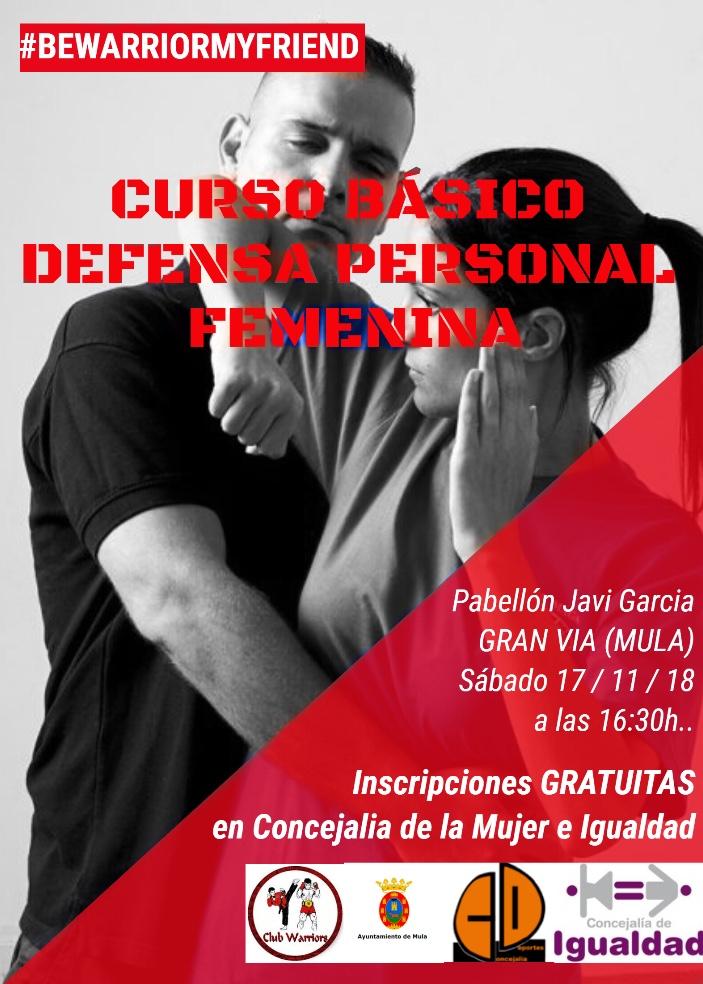 Curso básico gratuito defensa personal femenina en Mula   Yawara-Jitsu