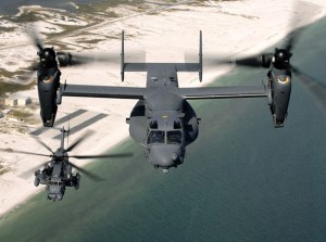 The CV-22 Osprey will take over Air Force Special Operations Command helicopter missions when the MH-53 'Pave Low' (seen below) retires in October 2011. U.S. Air Force photo/Senior Airman Julianne Showalter
