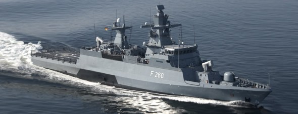 German Navy K130 Braunschweig class corvette F263 Oldenburg