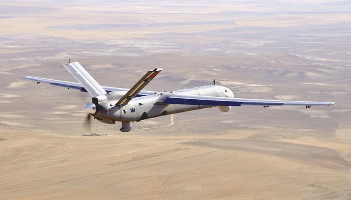 TAI Anka in flight