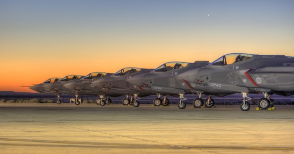 F-35 test aircraft at Edwards AFB