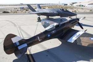 Spitfire and Lightning II at Edwards AFB