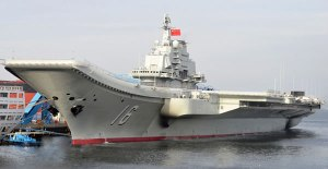 Liaoning (ex- Varyag) prior to its commissioning to People's Liberation Army Navy (PLAN) service on Sept 25, 2012.
