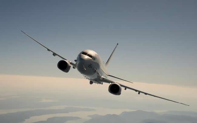 P-8A Poseidon in flight. Photo: Boeing