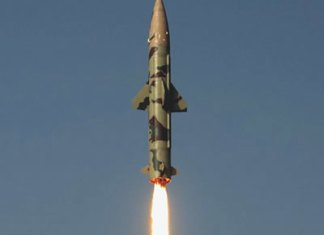 Prithvi 2 missile launched