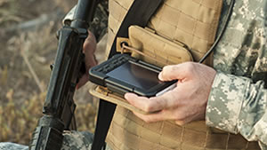 The Raptor miniature computing device is part of Elbit Systems' new Dominator II LD optimized for squad-level C2. Photo: Elbit Systems