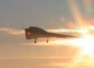 nEUROn on its first flight. Photo: Dassault Aviation