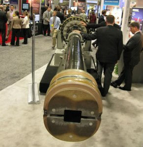 The Blitzer Electromagnetic Railgun was developed by General Atomics for testing by the US Navy.